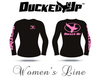 Ducked Up Apparel,Women's Long Sleeve Duck Shirt,hunter,hunting,