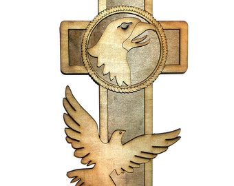 ARMY 101 SCREAMING EAGLE  Cross 7""