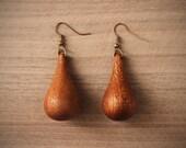 Wood dandelion earrings Wooden dandelion earrings the dandelion jewelry Drop Earrings Dangle Earrings