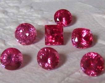 Neon Pink Red Mahenge Spinels