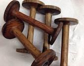 Lot of 5 vintage wood spools/ bobbins