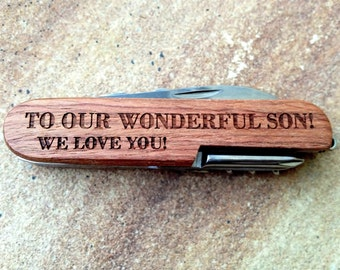Personalized Pocket Knife, Custom Knife, Engraved Knife: Gift for Him, Stocking Stuffers, Father's Day, Groomsmen, Bachelor Party