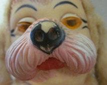 Vintage 1950's Bijou Plush Rubber Face Dog  Doll Toy