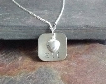 Sterling Silver .925 Hand Stamped Custom Ball Chain Mother's Necklace