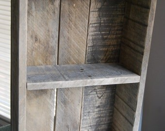 Rustic Shelf Organizer