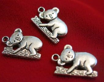 """8pc """"Koala bear"""" charms in antique style silver (BC165)"""