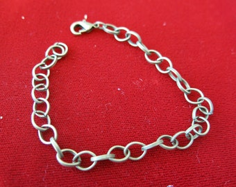 5pc bronze style lobster clasp chain bracelets (JC33)