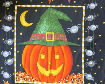 "1 Panel of 100% cotton ""Halloween pumpkin"""
