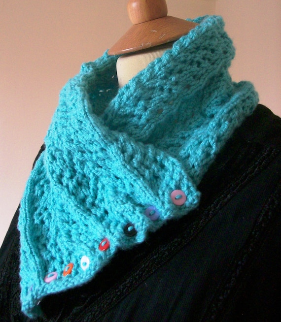 Knitting Pattern Lace Cowl : Knitting pattern for a lace cowl.