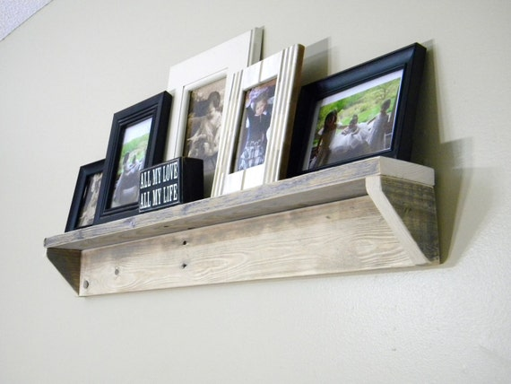 Etag?re Murale Bois Vieilli : Wood Pallet Floating Shelf