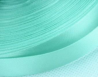 Each 100 Yards Tiffany Blue Silk Ribbon for Wedding Gift Decoration  Tiffany Blue