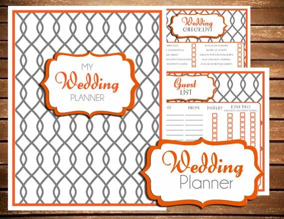 Wedding Planner Wedding Planner Printable Wedding Planner