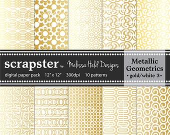 Gold Metallic Geometric Patterns