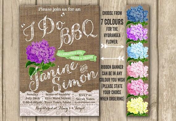 Floral I Do BBQ Wedding Invite
