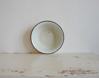 Old Enamel Bowl /  Enamel Kitchenware Soviet Vintage 70s