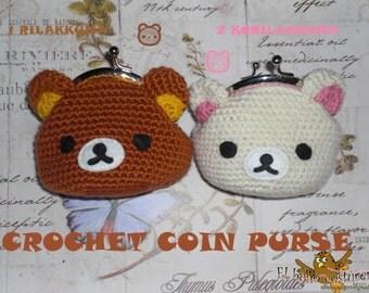 Crochet coin purse Rilakkuma