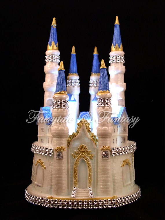 lighted cinderella castle wedding cake topper castle cake topper cinderella fairytale wedding or sweet 16 or 16859