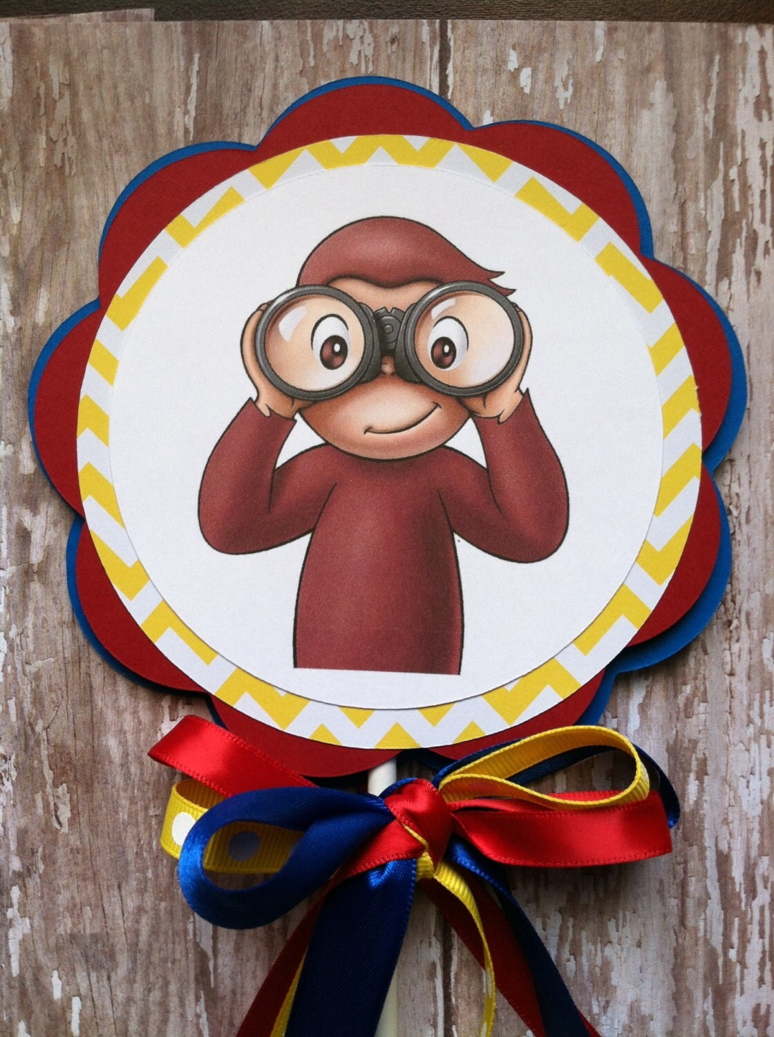 Curious George Birthday Party Cake Topper Curious George Smash