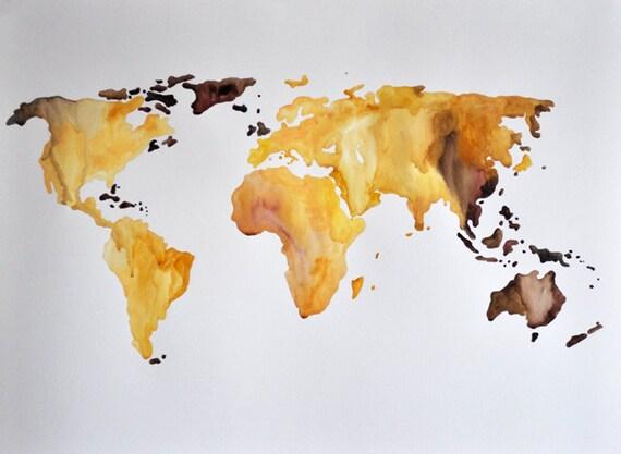 original abstract world map - photo #36