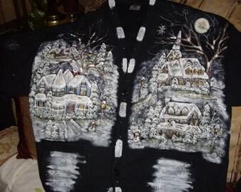 Nighttime in Wintertime Sweatshirt Cardigan