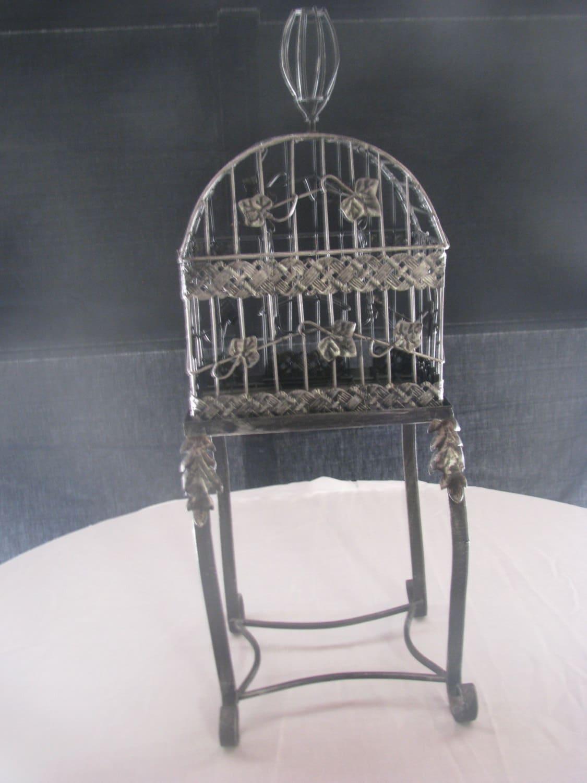 vintage metal bird cage stand by shoponwebstreet on etsy. Black Bedroom Furniture Sets. Home Design Ideas