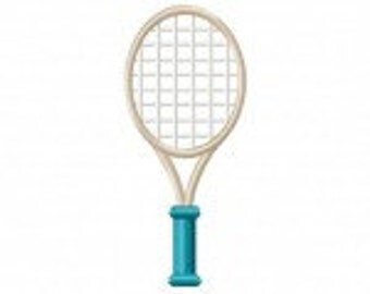 Tennis Racket Machine Embroidery Design