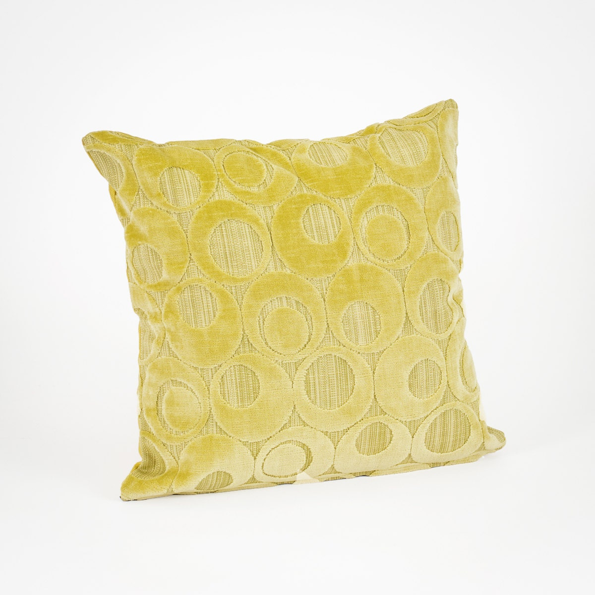 Soft Decorative Throw Pillows : Soft Retro Throw Pillow in Lime Green Velour Decorative