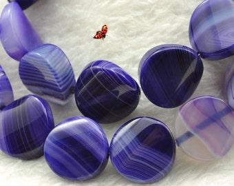 Ligure smooth twist beads 14mm,26 pcs