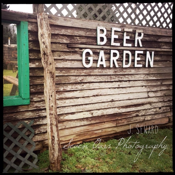 Items Similar To Color Photography Fun Beer Sign. Beer Garden. On Etsy