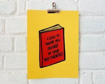 Books I Wish Existed Silkscreen Print