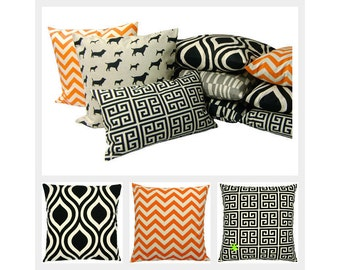 1 Cushion cover 40 x 40 cm Tabao black nature