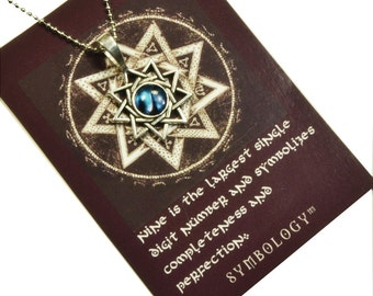 Nine Pointed Star Necklace  N10261