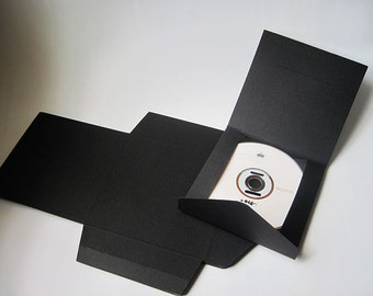 20pcs - Black paper CD DVD Envelope Sleeve (fold) *PS008*