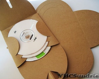 20pcs - Kraft paper CD DVD Envelope Sleeve (fold heart) *PS006*