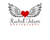 "Custom Premade Photography Logo and Watermark ""Winged Love"" - Fully Customizable Font and Color"