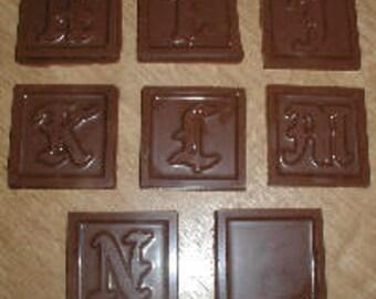Monogram Squares H - N  Chocolate Mold