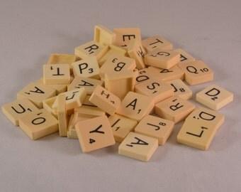 50 Vintage Scrabble tiles
