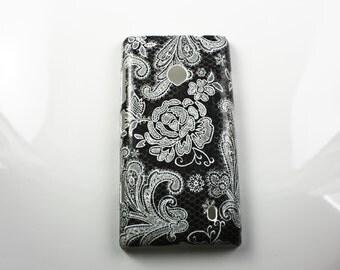 Black Lace Nokia Lumia 521 Hard Shell Skin Cover Case