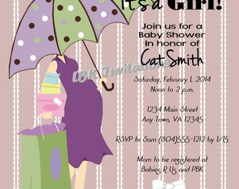 Chic Mom Baby Shower Invitation (Girl, boy or neutral)