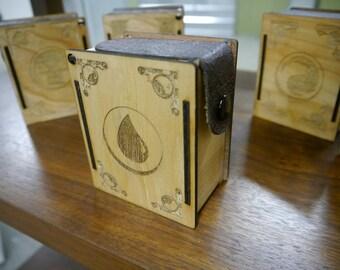 Engraved Birch Deck Box, MTG