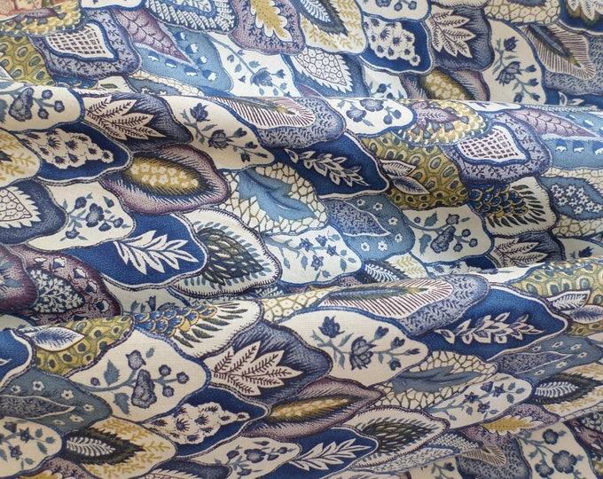Dutch Chintz - Les Mottes BLUE YELLOW FQ
