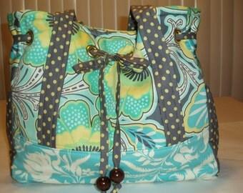 Tote Bag Diaper Bag Beach Bag, Amy Butler fabric