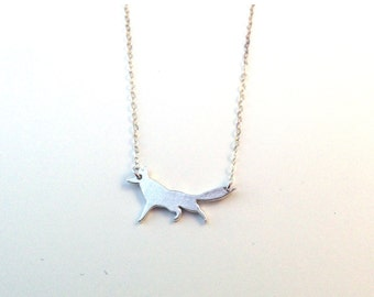 Sly Fox Pendant- Sustainable Sterling Silver Fox Necklace