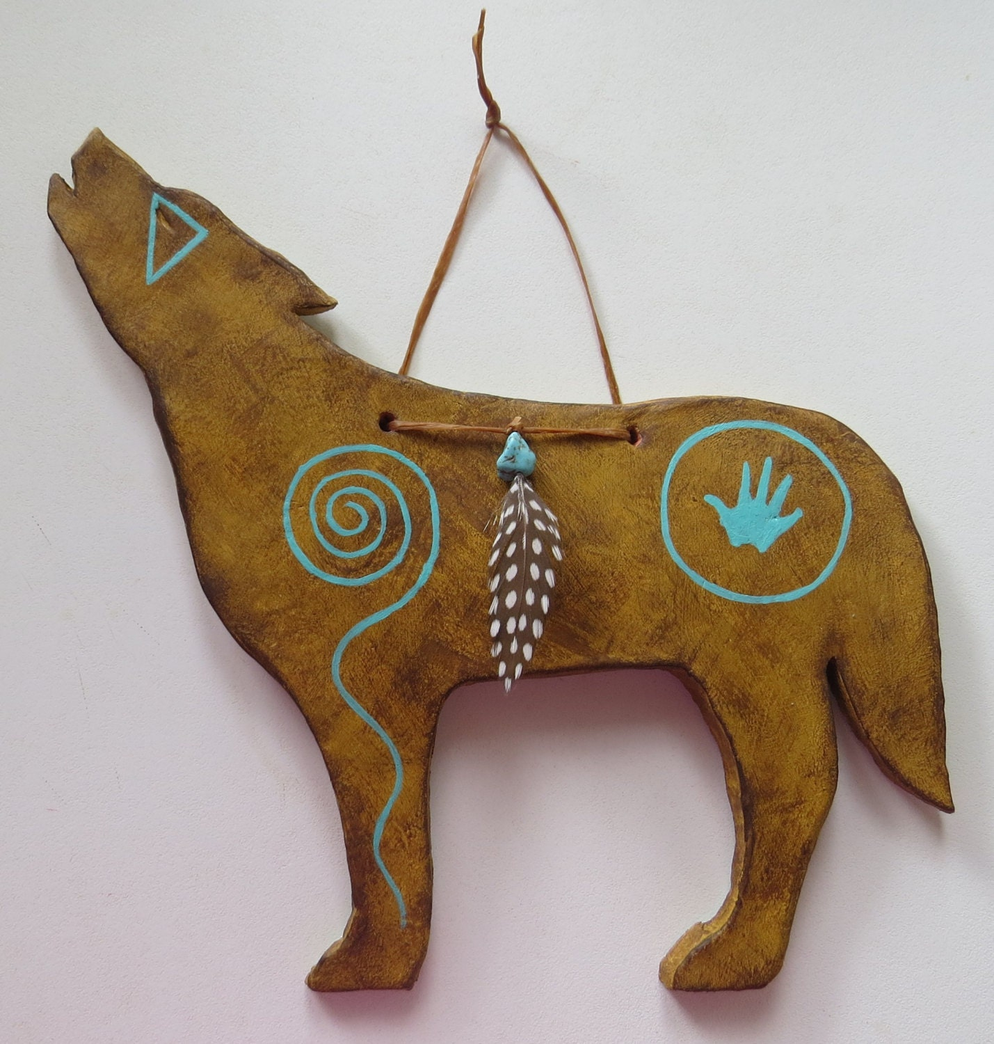 Howling Wolf South West Usa Symbols Zuni Western Native