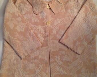 W1   Beautiful Damask print lightweight women's medium jacket