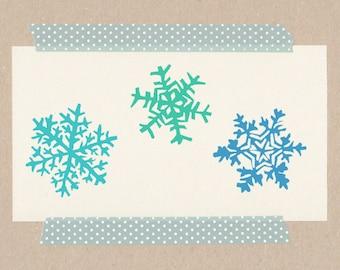 Snowflakes // stamp-set each 2 x 2 cm