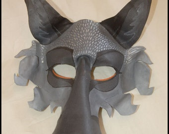 Silver Fox Leather Mask