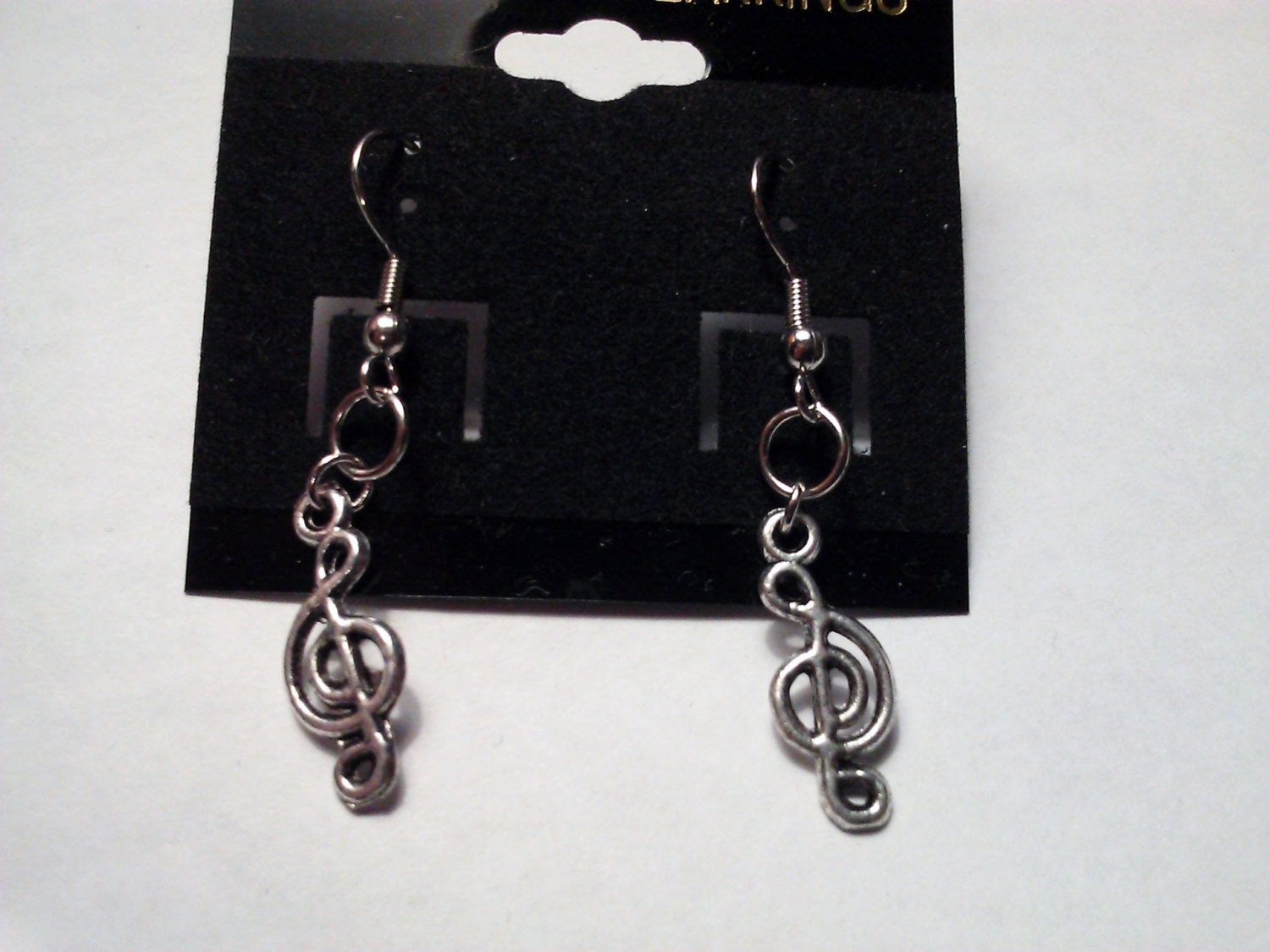 Tibetan Silver Charm Earrings Hand Made with Steel S Hook 10 to choose from Kawaii Kitty Silver Leaf Trinity Knot Music Note Dolphin & Cross