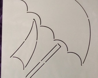 Stencil - Dancing Umbrella  - Edyta Sitar - Laundry Basket Quilts - Moda - LBQ-0344-T