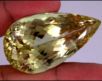 GIANT 209 ct One of a kind Yellow Natural Kunzite